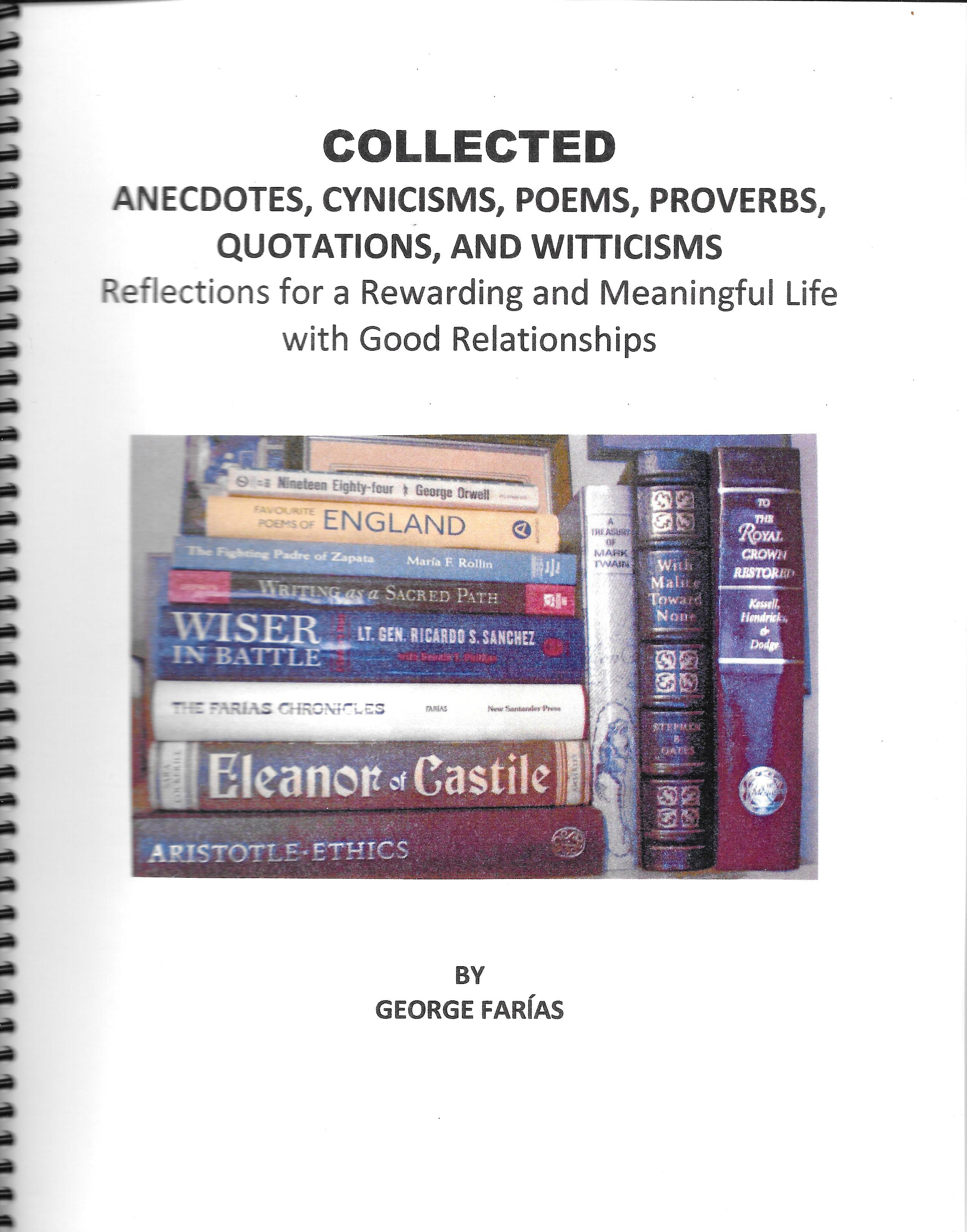 collected anecdotes cynicisms poems proverbs quotations and witticisms borderlands bookstore